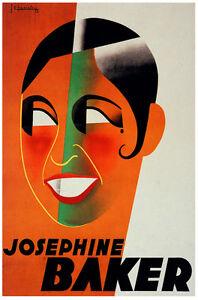 Josephine Baker Vintage Decoration & Design Poster.Home ...