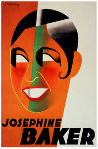 Josephine Baker Vintage Decoration Design Poster Home Wall ...