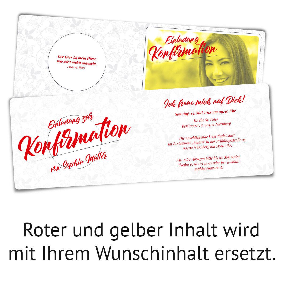 Konfirmation Einladungskarten Konfirmationskarten Einladungen - Blaumenranken Blaumenranken Blaumenranken | Verrückter Preis  | Feine Verarbeitung  b47d6b