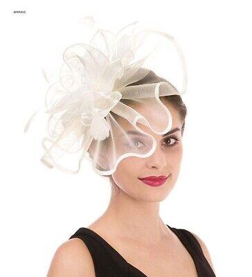 Womens Organza Church Kentucky Derby Feather Fascinator Bridal Tea Party Beach Wedding Hat