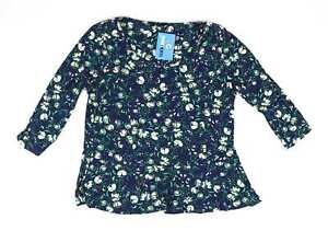 M-amp-Co-Blue-Floral-Womens-Top-Size-16-Regular