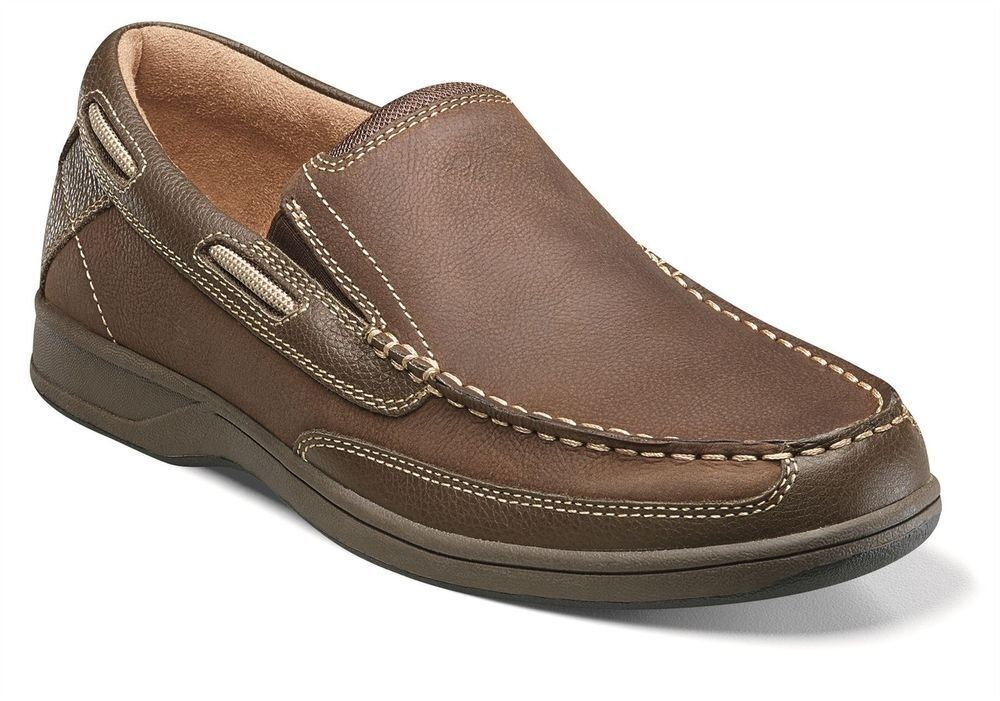Florsheim Mens Stone Lakeside Slip Casual Leather Boat Deck Loafer Trending schuhe