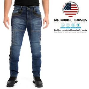 Mens-Motorcycle-Protective-Biker-Pants-Slim-fit-Stretch-Denim-Trousers-Jeans-US