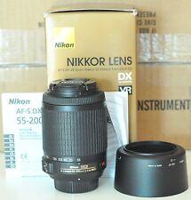 Nikon NIKKOR 55-200mm f/4.0-5.6 II DX G AF-S VR SIC ED Lens Exc++++++++ in Box