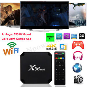 Details about 2019 X96 MINI Android 7 12 Smart TV BOX WIFI Quad Core Media  Player HDMI 4K