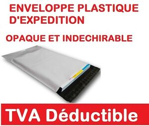 Lot-de-1-a-100-Enveloppes-pochettes-plastique-opaque-blanche-5-formats-au-choix