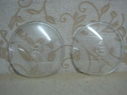 2 NOS BOSCH 130mm CLEAR FOG SPOT LAMP LENSES Vintage Classic MERCEDES OPEL BMW