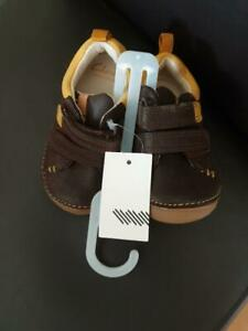 Clarks Tiny Toby Brown Leather first