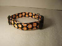 Wet Nose Designs Glow In The Dark Pumpkin Patch Dog Collar Halloween Black