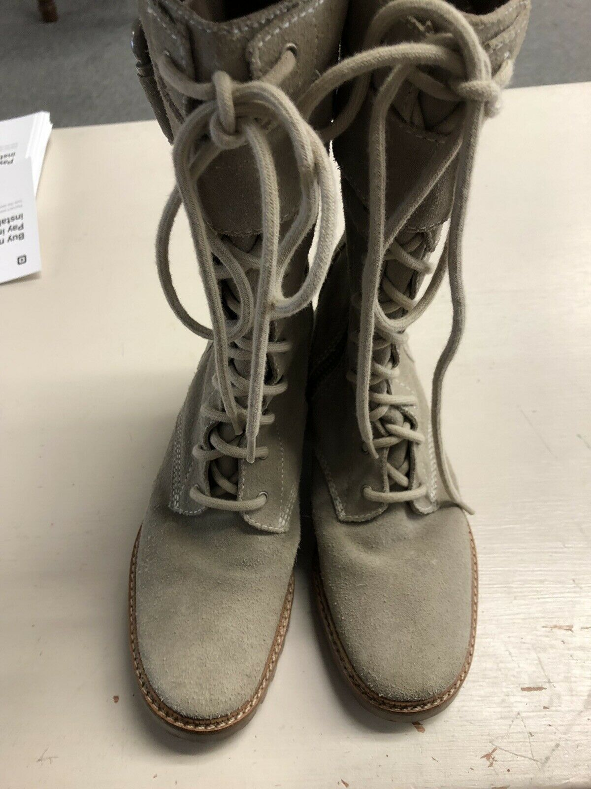 7 For All Mankind Gingerly Boots EUC Size 6M 6M 6M Clay No Box ce0db6