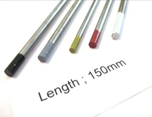 2.4mm Weiß Schweißen Wolfram Electrodes Grau Tig Schwarz /& Gold...