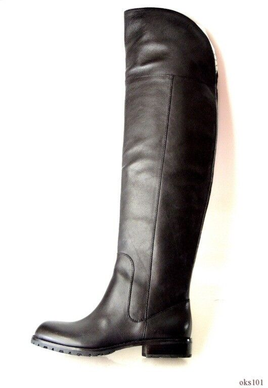 new MARC JACOBS black leather over-the-knee flat BOOTS 35.5 5.5 - SUPER HOT