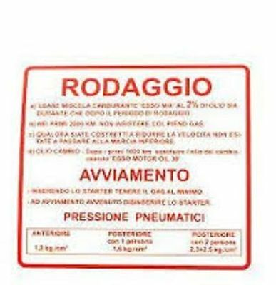 Avere Una Mente Inquisitrice Targhetta Rodaggio Kit 10 Pezzi Per Piaggio Vespa Et3 Vma2 Vmb1 Vmx1t Qualità E Quantità Assicurate