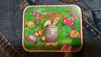 Vintage 1982 Avon Easter Bunny Rabbit In Purple Egg Pin Brooch