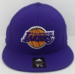 335595c1cdc Image is loading Los-Angeles-Lakers-Adidas-NBA-Fitted-Hat-Cap-