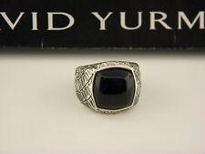David Yurman Naturals Gator Signet Ring Black Jade Sterling Silver Sz 14.5