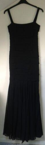 Elegant Uk Grachvogel Black 00 Evening Rrp Maria £1400 10 Rare Gown Viscose qxpAF0nE0w