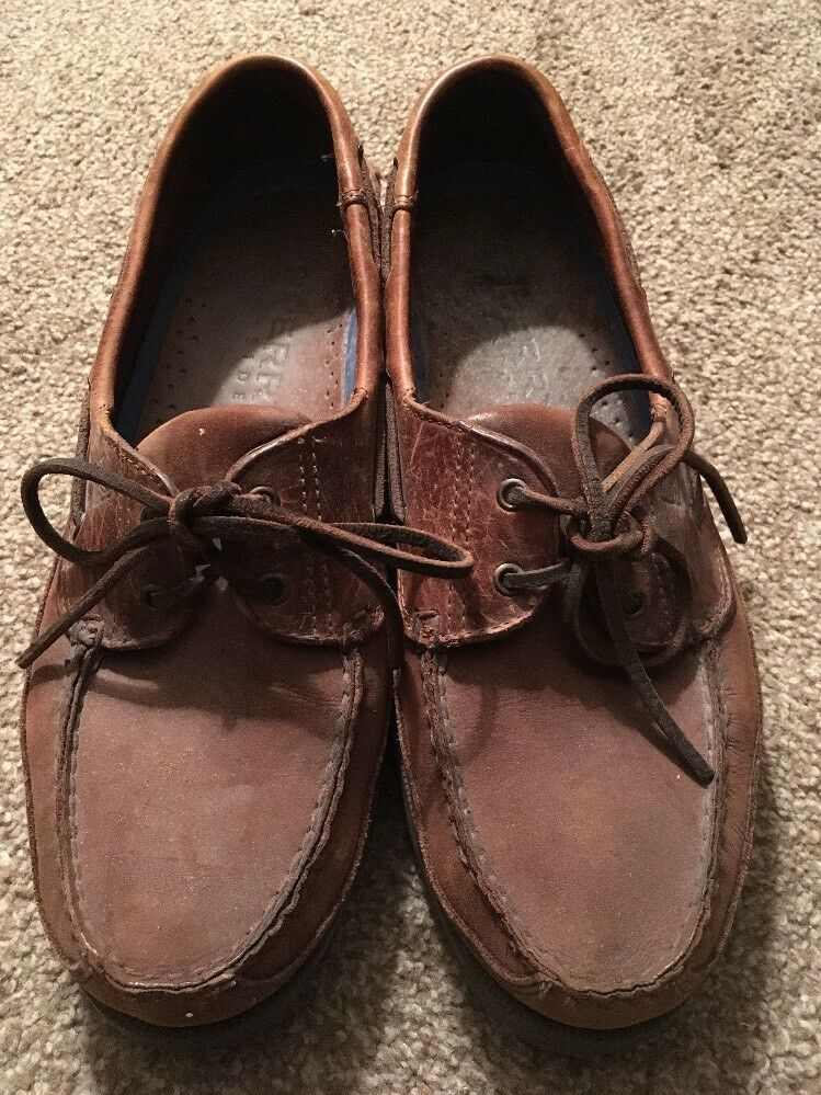 Mens Sperry Top Sider Size Brown Leather Upper Shoes, Size Sider 11M 7082a9