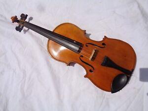 Ancien Violon Violon Full Size Ca 58,5 Cm Mot Kliment-afficher Le Titre D'origine Soulager La Chaleur Et La Soif.