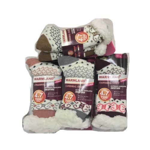 3 PAIRS LADIES SHERPA THERMAL EXTREME HOT WARM THICK SOCKS 4.7 TOG UK SIZE 4-7
