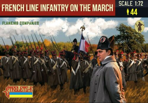 French Line Infantry on the March 1 Flanking Companies Strelets 0173 Napoleo