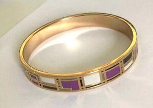 bracelet bangle    fantaisie jonc en acier inoxydable émail,enamel  doré.