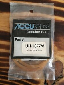 NEW-Accuspray-UH-1377-3-Gravity-Cup-Gaskets-Pkg-3