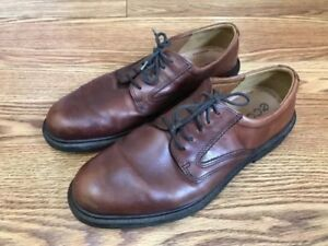 Image is loading Ecco-Brown-Vegetable-Tanned-Leather-Lace-Up-Oxford-