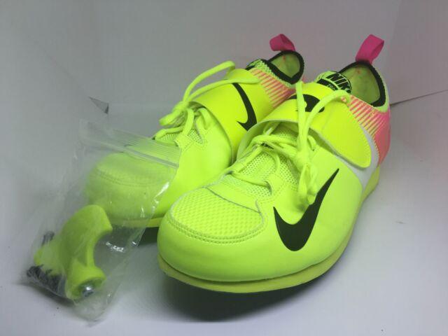 e309b99402a89 Nike Zoom Pole Vault PV II 2 OC Multi Color Volt Pink 882011 999 Size 12.5