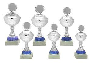 6er Serie Pokale 558a Silber/Blau mit Höhe=32,5-27,0 cm inkl.Gravur 52,95 EUR