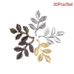 30pcs Vintage Leaf Charms Pendant Lot Connector Jewelry Bracelet DIY Craft