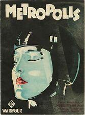 "Metropolis 1927 vintage style Silk Fabric Movie Poster Sci-Fi 19.6""x27.5"""