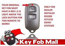 NEW Keyless Entry Key Fob Remote For a 2001 Toyota Celica Free Program Inst.