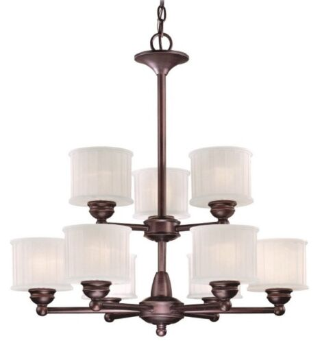 Minka lavery 1739 167 1730 series glass 2 tier chandelier lighting 9 refurbished lowest price mozeypictures Images