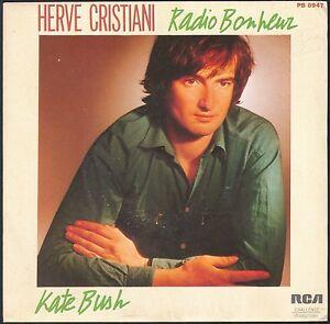 HERVE-CRISTIANI-KATE-BUSH-45T-SP-1982-RCA-PB-8947-DISQUE-NEUF-MINT
