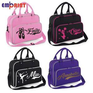 Image Is Loading Personalised Dance Bag Kids S Gymnastics Childrens Glitter