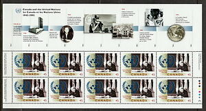 Canada-1584i-UN-50th-Anniversary-Full-Pane-of-10-MNH