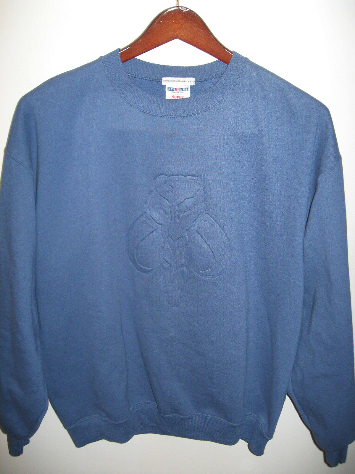 Star Wars 2002 LucasFilm LucasArt Lucas Movie Rare Vader 3D Stamp Sweatshirt L