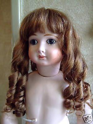 PERRUQUE de POUPÉE T6 Vintage 27.5 cm DOLL WIG Béa 100/% cheveux naturels