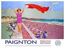 Paignton Devon Old Rail Ad Grote Metalen Bord (Og 4030)