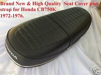 Honda Cb750k Four 1972-1976 Cb750 K2-1976 High Quality Seat Cover + Strap