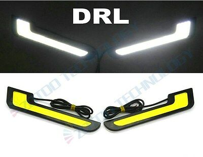 2x6W Universal COB White LED L - Shape Daytime Running Light Fog Decorative lamp