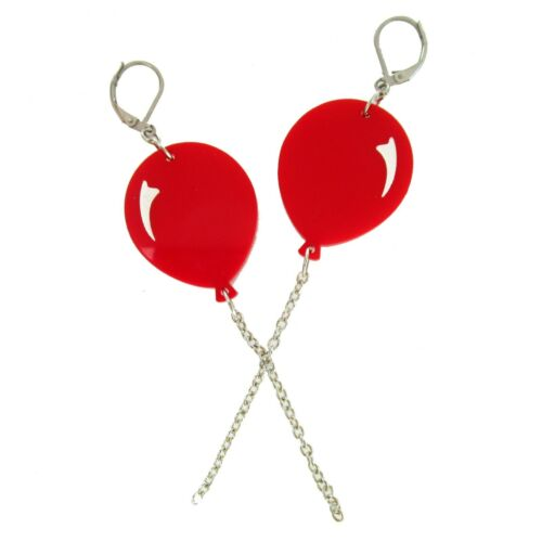 IT Movie Pennywise Costume Circus Faire USA Red Circus Balloon Dangle Earrings