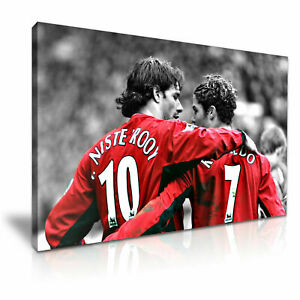 Ruud-van-Nistelrooy-Cristiano-CANVAS-WALL-ART-PICTURE-PRINT-VARIOUS-SIZES