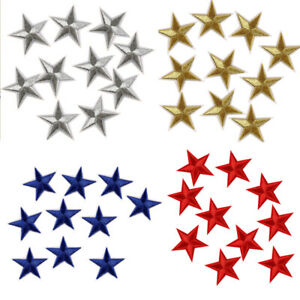10-Pcs-Star-Embroidered-Garment-Applique-Sew-Iron-on-Patches-Badges-Fabric-COZ