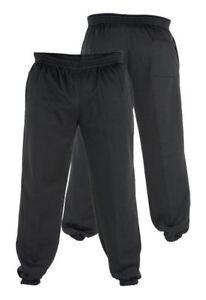 con negro con en Hombre Ancha Pierna Pantalones Vellón 2XL 6XL Para tamaño De dobladillo Jogging elástico PwFg8