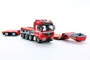 WSI-02-9959-MAN-TGX-XXL-8x4-w-4-Axle-Lowloader-Kran-Saller-1-50-MIB