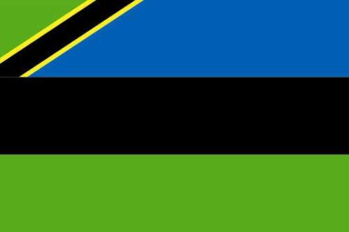 Fahne Flagge Sansibar 20 x 30 cm Bootsflagge Premiumqualität