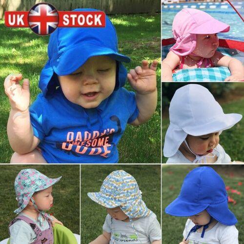 Adjustbale Baby Sun Hat Summer Beach Hat Legionnaire Cap Newborn Toddler 4-18m