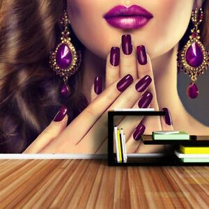 Details About Shinehome Nail Beauty Salon Wallpaper 3d Wall Paper Shop Wall Paper Mural Rolls